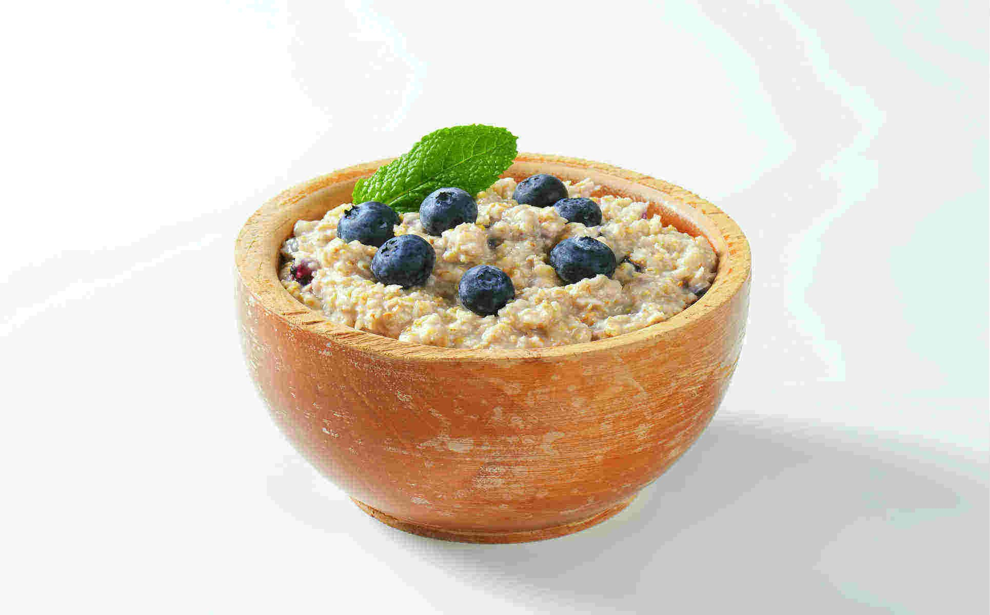 Breakfast or Snack | steel cut blueberry oatmeal